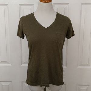 Madewell army green classic t-shirt size XS